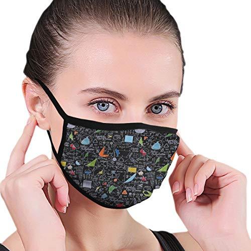 Mathematik-Gesichtsabdeckung, waschbar und wiederverwendbar, staubdicht, Unisex, Mundschutz für den täglichen Gebrauch