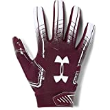 Under Armour mens F6 Football Gloves Maroon (609)/White Medium