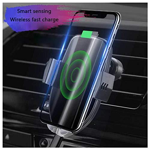 QWERASD draadloze auto-telefoonlader, intelligente inductie, telescoop, 2-in-1, 10 W, snelle draadloze auto-lamp-oplader, infraroodsensor, auto-ontluchter, dashboard