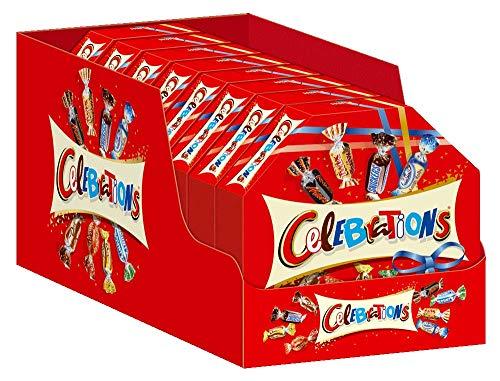 Celebrations Geschenkbox | Mini-Schokoriegel Mix | 8 Packungen in einer Box (8 x 269 g)