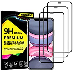 【Lifetime Warranty】-*FREE REPLACEMENT* or *FULL REFUND* for any problem. More details please check the lifetime warranty card inside the package. 【Full Coverage & Case Friendly】- In order to offer maximum protection for iPhone 11/iPhone XR, the scree...