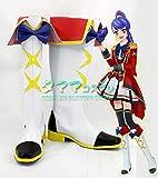 【タママ】アイカツスターズ! Aikatsu STARS! 四ツ星学園 S4制服 しらとりひめ 白鳥ひめ コスプレ靴 コスプレブーツ オーダーサイズ/スタイル 製作可能(25.5cm)