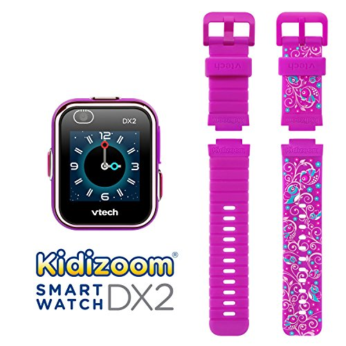 VTech KidiZoom Smartwatch DX2 Special Edition Floral Birds with Bonus Vivid Violet Wristband, Great Gift For Kids, Toddlers, Toy for Boys and Girls, Ages 4, 5, 6, 7, 8, 9 3