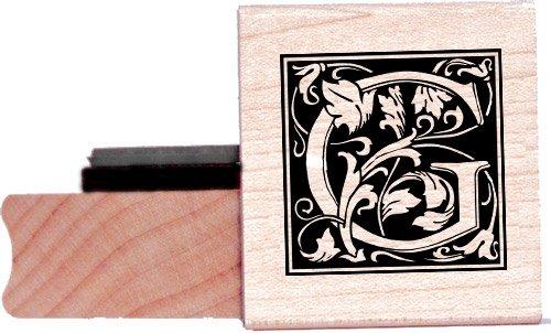 Tampon en caoutchouc alphabet - Lettre G à la William Morris