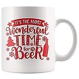 N\A È Il Momento più Bello per Un Regalo di Boccale di Birra di Natale per Gli Amanti della Birra, Boccale di caffè bevitore di Birra, Tazza da tè di Natale Amore 11 Once