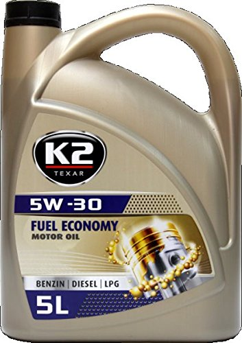K2 Motoröl, 5W-30, halbsynthetisch, mit Nano Technologie, geeignet für Benzin-und Dieselmotore mit oder ohne Turbo, sowie Flüssiggas- LPG, 5W30 , 5L