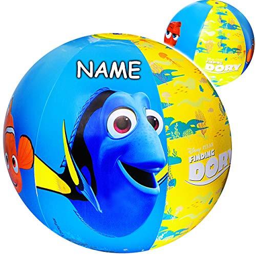 alles-meine.de GmbH 2 Stück _ Strandbälle / Bälle aufblasbar -  Disney Findet Nemo  - inkl. Name - Ø 50 cm - Wasserball - aufblasbarer großer Ball / Beachball - Kinder - Baby -..