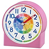 Seiko QHE153P Childrens Time Teaching Alarm Clock – Rosa {4517228832345}