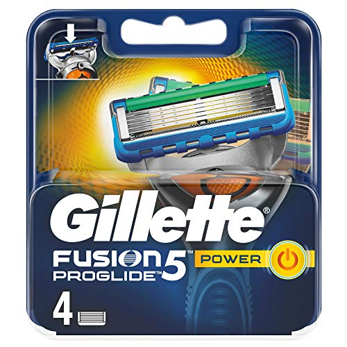 Gillette Fusion 5 ProGlide Power - Lamette per rasoio da uomo, 4 pezzi