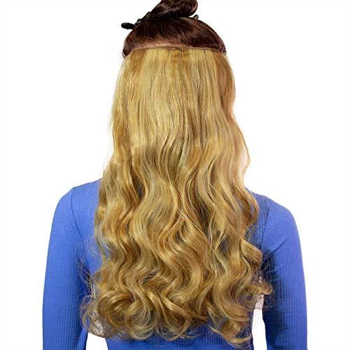 Hair2Heart Extension à Clipser Bouclées Synthétiques Postiche 12-15 Mélange Blond 60 cm