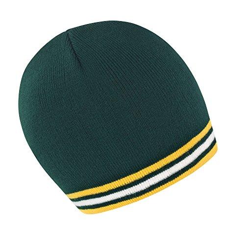Result - Bonnet aux Couleurs nationales - Adulte Unisexe (Taille Unique) (Vert/Or/Blanc)