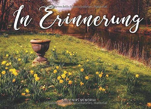 In Erinnerung: Begräbnis-Gästebuch (Gelbe Blumen am Fluss)