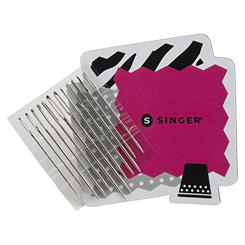 SINGER 01824 Large Eye Hand Needles On Magnet, 12-Count
