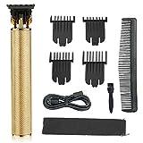kemei Mens Clipper Cordless Hair Clippers, Razor Electric Professional Beard Trimmer Grooming Shaving Machine Self Hair Cutting Haircut Trimmers Cutter,Golden