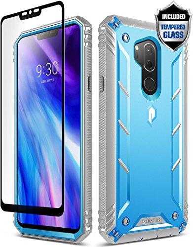 Funda LG G7 ThinQ, Funda Robusta LG G7 ThinQ, Poetic Revolution (360 Grados de protección) Funda Robusta Resistente Completa [con Cristal Templado] para LG G7 ThinQ, Azul