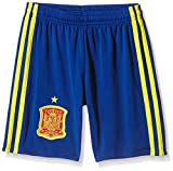 adidas 1ª Equipación Federación Española de Fútbol 2016/2017 - Pantalón Corto para niños, Color Azul/Amarillo/Rojo, Talla 164