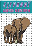 Elephant Word Search: 40 puzzles | Challenging Puzzle Brain book For Adults and Kids | More than 300 words about Elephants, African Savannah Animals, ... | Large Print Gift | Training brain with fun.