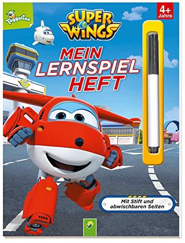 Super Wings - Mein Lernspielheft: Mit Stift und abwischbaren Seiten