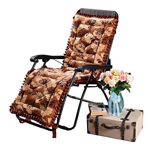 silla de camping, Patio Lounge Sillage Sillón, sillón de lujo corto grueso cálido Sillón de lujo Removable y lavable Sofá Cojín antideslizante Silla de mimbre 53x160cm Sillas de patio reclinable