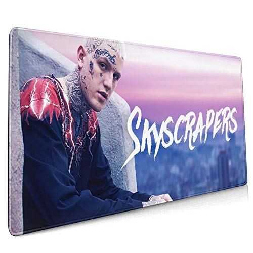 WXDGLL Fully Printed Mouse pad 15.8x35.5 in Lil Peep Gaming Mouse pad Office Mouse pad Non-Slip Rubber Durable Stitches, Designed for Men, Women and Children Gaming Office laptops