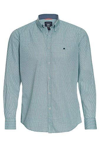 LERROS Hemd mit Minimal-Print hellblau,M