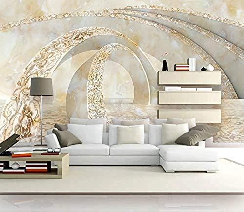 Tapete Tapete Marmor Raum 3D Wandbilder Für Fernseher Hintergrund Wohnzimmer Seidentuch fototapete 3d Tapete effekt Vlies wandbild Schlafzimmer-300cm×210cm