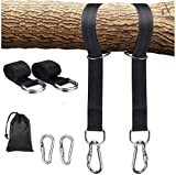 Tree Swing Hanging Straps,10ft Extra Long Straps with 2 Heavy Duty Safety Lock Carabiner Hooks Holds Up to 2200lb, Polyester Straps Perfect for Baby,Garden,Toddler Swing,Tree Swing,Hammocks