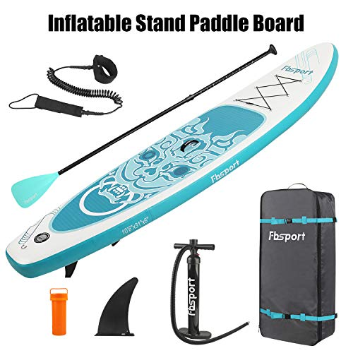 Product Image 7: Premium Inflatable Stand Up Paddle Board (6 inches Thick) with Durable SUP Accessories & Carry Bag   Wide Stance, Surf Control, Non-Slip Deck, Leash, Paddle and Pump , Standing Boat for Youth & Adult