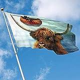 wallxxj Garden Flag Fahnen-Stier-Vieh-Boots-Polyester-Im Freien 150X90Cm Fahnen-Dekorative Flaggen-Garten-Innenflagge