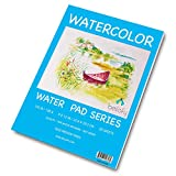Bellofy 50 Sheet Watercolor Paper Pad - 130 IB / 190 GSM Weight - 9x12 in Size - Cold Press Paper - Water Painting Art Notebook Pad