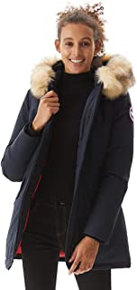 Women's Duck Down Jacket Ladies Padded Long Thicken Parka Fur Hood Winter Outwear Warm Overcoat