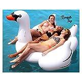 Flotador cisne blanco XL para piscina para adultos y niños marca BEACH TOY