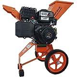 Benzin Häcksler 6 PS mit Elektro-Starter Ast Laub Holz Garten-Häcksler Garten-Schredder Motor-Häcksler Trommelhäcksler