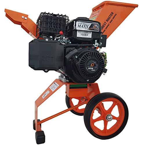 Trituradora de gasolina, 6 CV, con arranque eléctrico, rama, hojas, trituradora de jardín, trituradora de motor, trituradora de tambor