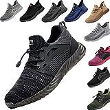 Zapatos de Seguridad para Hombre Transpirable Ligeras con Puntera de Acero Zapatillas de Seguridad Trabajo, Calzado de Industrial y Deportiva 39