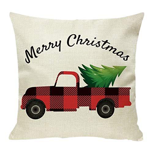 LIMITA Weihnachtskissenbezüge Kopfkissenbezüge aus Baumwolle Weihnachts Sofakissenbezug Weihnachten Home Decor Weihnachtsverzierung 2019 Neu