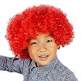 ODJOY-FAN Karneval Kopfbedeckung Perücken Explosiver Kopf Clown Perücken Party Lustig Haar Fußball Fan-Kinder Maskerade Haar Perücke Party Wigs(D,1 PC)