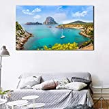 N/A Dekorative Leinwandmalerei Ibiza Insel Landschaft