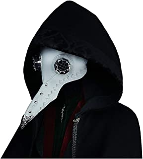HU Halloween Crow Doctor Mask, Party Cosplay Stereo Headwear, Leather Material (Color : A)