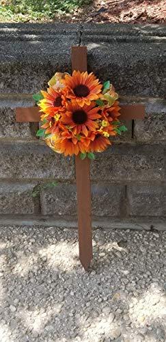 Sunflower Cemetery Cross, Memorial Flowers