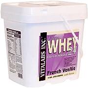 Vitalabs Ultra Whey 24 Protein Powder with Stevia, French Vanilla, 6 lbs.