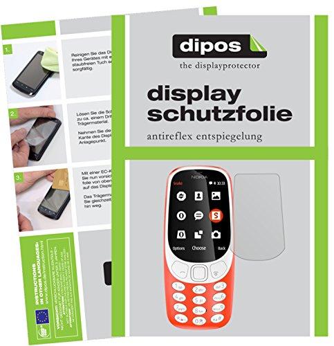 dipos I 2X Schutzfolie matt kompatibel mit Nokia 3310 Folie Bildschirmschutzfolie