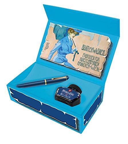 Pluma Pelikan Special Edition M120, color azul, color azul cobalto Geschenkset