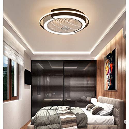 Nordic plafondventilator met licht en afstandsbediening, verlichtingsset onzichtbare ventilatoren, led-plafondlamp, dimbaar voor woonkamer, slaapkamer, kinderkamer, eenvoudige installatie