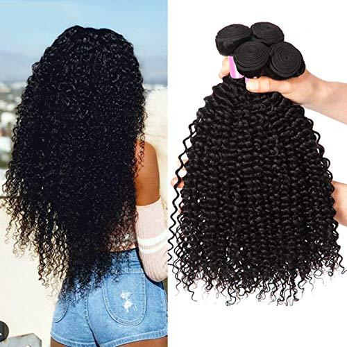 EMOL 8A Human Hair Curly Brasilianisches Haar Brazilian Curly Hair 3 Bundles Remy Menschliches Haar 100% Human Hair Weave Bundles Curly 10 12 14 Zoll Natural Color Total 300g