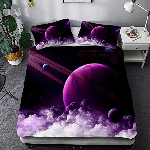 Wjmss Duvet Cover Set 3D Star Bedding Set 2 Pieces with Pillow Sham Single double Twin/Queen 2pcs/3pcs Enthusiast,135 * 200cm