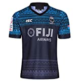 Rugby Jersey Football Wear 2019 World Cup Fiji, Fans T-Shirts d'été T-Shirt Respirant Sportswear Maillots Professionnels à Manches Courtes T-Shirt décontracté-Blue-XXXL(195cm/100~110kg)
