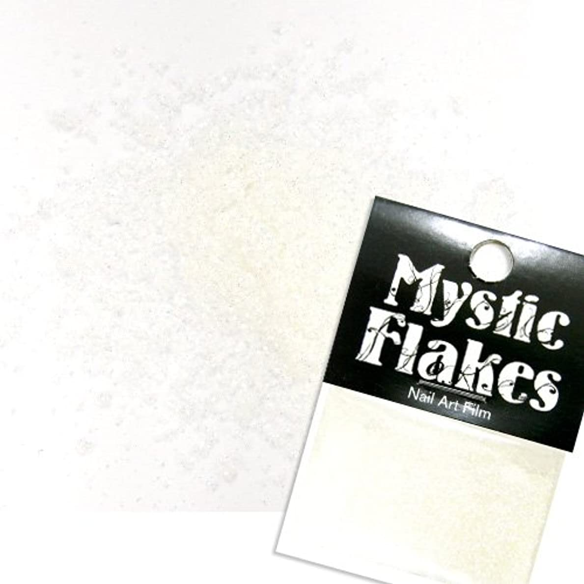 朝失速以下ミスティックフレース ネイル用ストーン オーロラホワイト ラメシャイン 0.5g