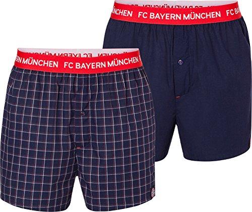 FC Bayern München Boxershorts Navy/rot 2er-Set Shorts FCB Unterhose div. Größen Größe S