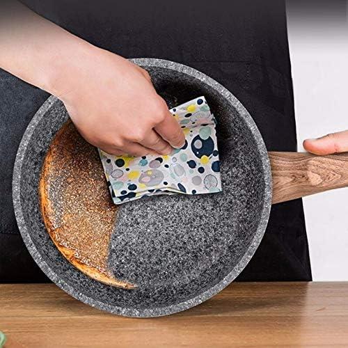 Poêle à frire Antiadhésive Poêle avec couvercle Pancake Steak Pan Marmite Batterie de cuisine for gaz Cuisinière à induction (Color : 24cm with cover) 20cm With Cover